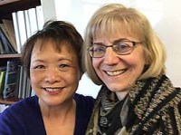 Florence Chang and Stacey Arnesen smiling