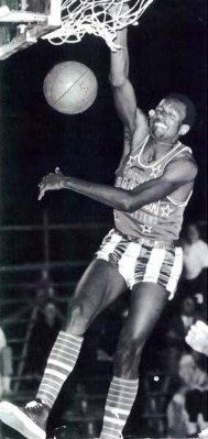 David Nash slam dunks as a Harlem Globetrotter in the early 1970s