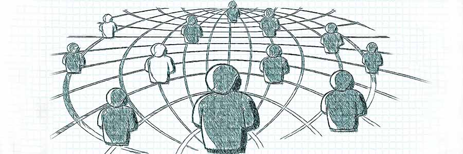 sketch representing collaboration
