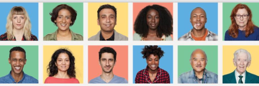 headshots of six women and six men of different ages and races representing the diversity and individuality of the All of Us Research Program